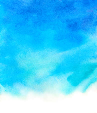 blue watercolor background. hand-painted backdrop illustration Stock Photo