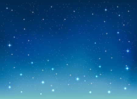nice bright stars in the night sky background, vector