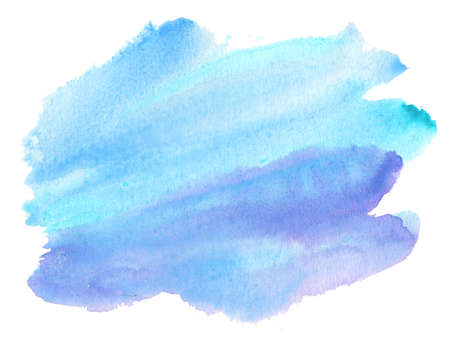 blue abstract splash made of watercolor washes Stock Photo
