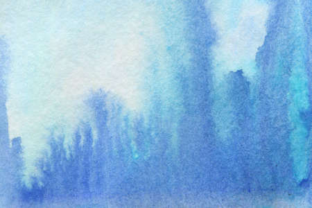 Blue nature abstract background. Watercolor handmade illustration Stock Photo