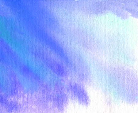 blue and violet abstract watercolor background with paper texture