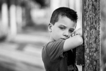 kid s illustration: The little boy Stock Photo