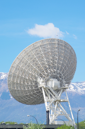 telephonic: Large satellite dish for reception  transmission of satellite data