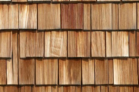 wood panelling: Wood roof tiles of and old house  Wood texture background