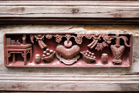 wood carving: Traditional Chinese wood carving