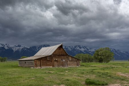 T. A. Moulton Barn with dramatic clouds