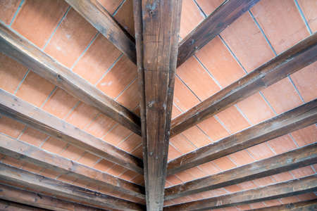 ceiling: Ceiling of rustic country house