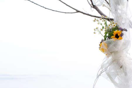 結婚式のグラフィックのための花のフレーム 写真素材 - 106437234