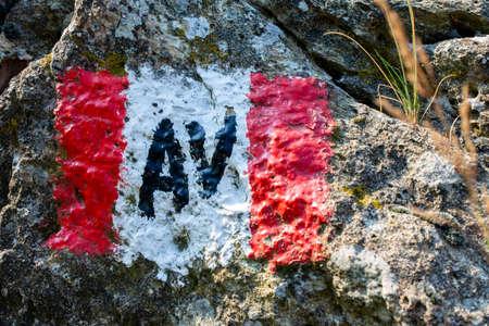 山道標識 写真素材 - 106800078