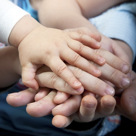 family support: Family hands