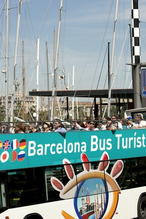 A shot of a barcelona doubledecker sightseeing bus tour Stock Photo - 10005580