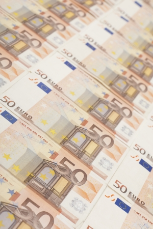 50 euro: 50 euro banknote background Stock Photo