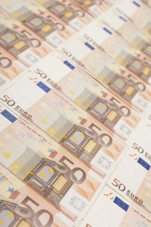50 euro banknote background Stock Photo