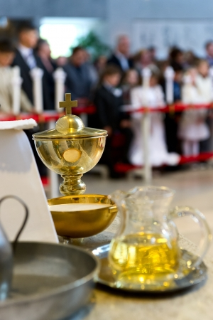 holy jug: The blessed sacraments on the alter