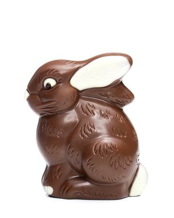 Milk chocolate Easter bunny Stock Photo