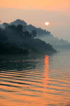 yangtze river: Sunset at Yangtze River