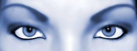 abstract eyes bluish Stok Fotoğraf