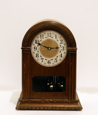 bracket: wood bracket clock Stock Photo