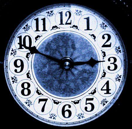 bracket: Wood bracket clock close up