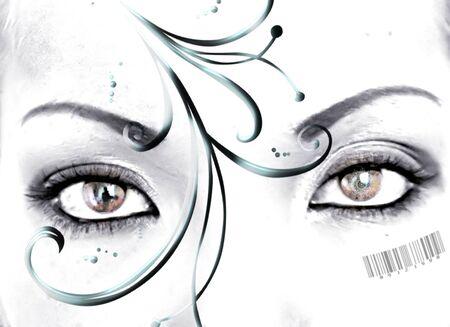 codebar: ornament eyes Stock Photo