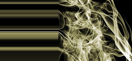 gold metallic smoke photo
