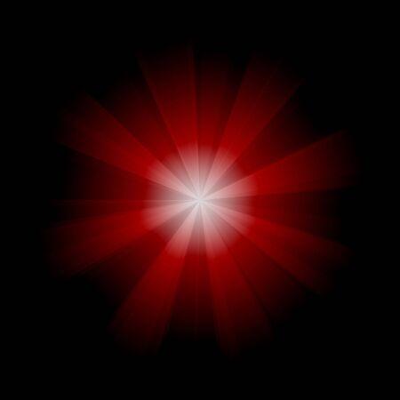 bright: red dot