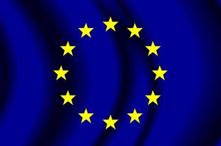 유럽의: European Union Fabric Flag