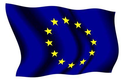유럽의: European Union waving flag