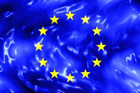 유럽의: European Union Water Flag 스톡 사진