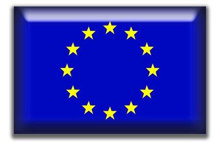 유럽의: European Union Square Icon 스톡 사진
