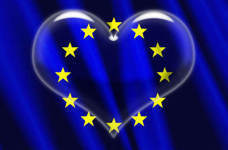 European Union Crystal Heart Stock Photo - 3078336