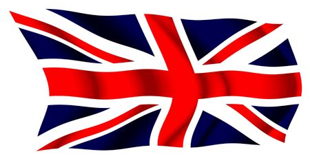 flag: UK waving flag Stock Photo
