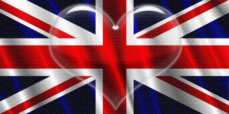 UK Crystal Heart shiny 免版税图像 - 3078153