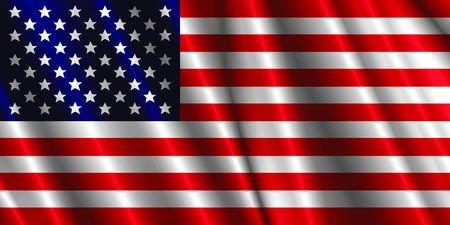 US satin flag