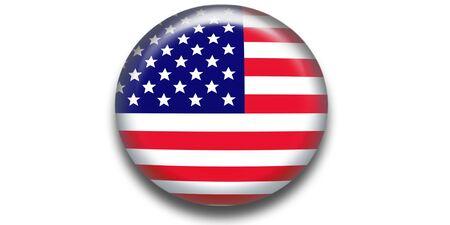 USA flag icon web Stock Photo - 3078133