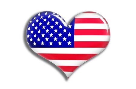 USA  Shiny Heart Stock Photo - 3078337