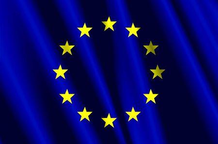 유럽의: European Union silk Flag 스톡 사진