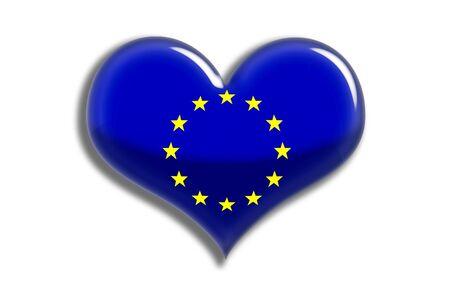 유럽의: European Union Shiny Heart
