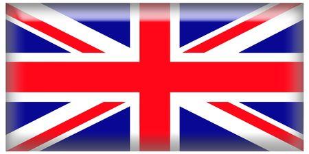 square: UK Square Icon Flag Stock Photo