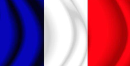 whitem: France Fabric Flag Stock Photo