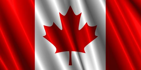 Canada silk flag
