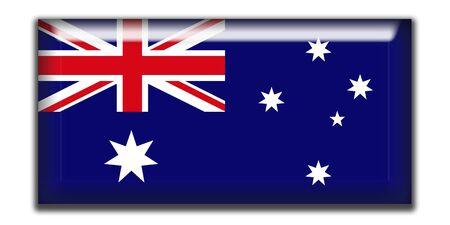 rectangle: Australia Rectangle Icon Stock Photo