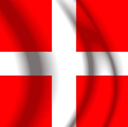 swiss flag: Switxerland Fabric flag Stock Photo