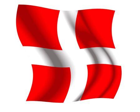 swiss flag: Switzerland Waving Flag Stock Photo