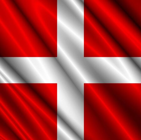 Switzerland Satin Flag