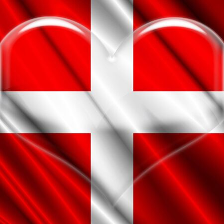 Switzerland Flag Crystal flag Imagens