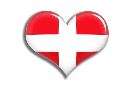 swiss flag: Switzerland Shiny Heart