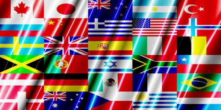 sweden flag: Countries Flag plastic Stock Photo