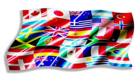 sweden flag: Countries Flag shiny waving Stock Photo