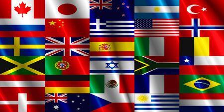 sweden flag: Countries Flag satin